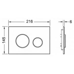 Кнопка смыва TECE Loop 9240626 хром