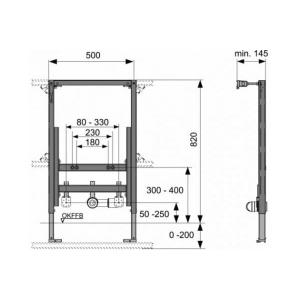 Система инсталляции для биде TECE TECEprofil 9330005