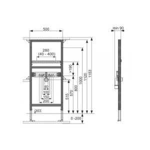 Система инсталляции для раковин TECE TECEprofil 9310000