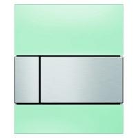 Кнопка смыва TECE Square Urinal 9242804 зеленое стекло, кнопка сатин