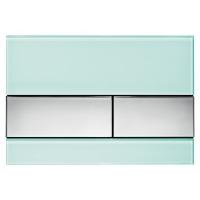 Кнопка смыва TECE Square 9240805 зеленое стекло, кнопка хром