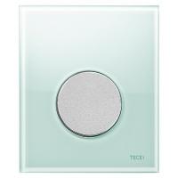 Кнопка смыва TECE Loop Urinal 9242652 зеленое стекло, кнопка хром матовый