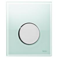 Кнопка смыва TECE Loop Urinal 9242653 зеленое стекло, кнопка хром