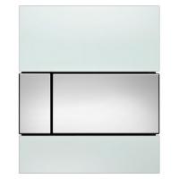 Кнопка смыва TECE Square Urinal 9242802 белое стекло, кнопка хром