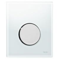 Кнопка смыва TECE Loop Urinal 9242660 белое стекло, кнопка хром