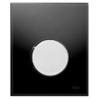 Кнопка смыва TECE Loop Urinal 9242656 черное стекло, кнопка хром