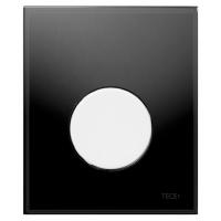 Кнопка смыва TECE Loop Urinal 9242654 черное стекло, кнопка белая