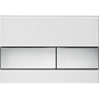 Кнопка смыва TECE Square 9240802 белое стекло, кнопка хром