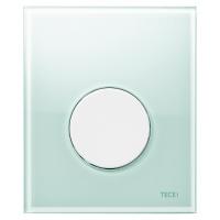 Кнопка смыва TECE Loop Urinal 9242651 зеленое стекло, кнопка белая