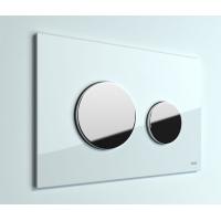Кнопка смыва TECE Loop 9240660 белое стекло, кнопка хром