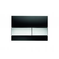 Кнопка смыва TECE Square 9240807 черное стекло, кнопка хром