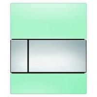 Кнопка смыва TECE Square Urinal 9242805 зеленое стекло, кнопка хром