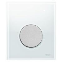 Кнопка смыва TECE Loop Urinal 9242659 белое стекло, кнопка хром матовый