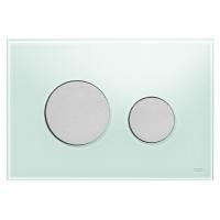 Кнопка смыва TECE Loop 9240652 зеленое стекло, кнопка хром матовый
