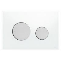 Кнопка смыва TECE Loop 9240659 белое стекло, кнопка матовый хром