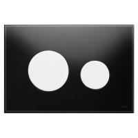 Кнопка смыва TECE Loop 9240654 черное стекло, кнопка белая