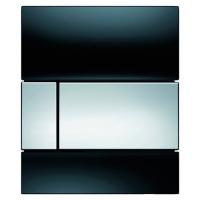 Кнопка смыва TECE Square Urinal 9242807 черное стекло, кнопка хром