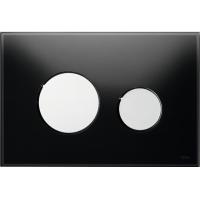 Кнопка смыва TECE Loop 9240656 черное стекло, кнопка хром