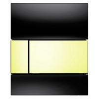 Кнопка смыва TECE Square Urinal 9242808 черное стекло, кнопка золото