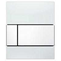 Кнопка смыва TECE Square Urinal 9242800 белое стекло, кнопка белая