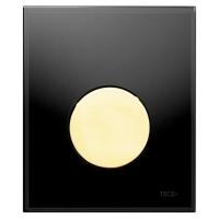 Кнопка смыва TECE Loop Urinal 9242658 черное стекло, кнопка золото