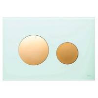 Кнопка смыва TECE Loop Modular 9240668 кнопка золотая, стекло на выбор