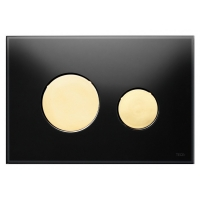 Кнопка смыва TECE Loop 9240658 черное стекло, кнопка золото