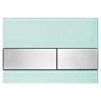 Кнопка смыва TECE Square 9240804 зеленое стекло, кнопка сатин