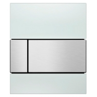 Кнопка смыва TECE Square Urinal 9242801 белое стекло, кнопка сатин