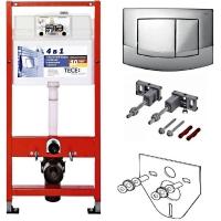 Система инсталляции для унитазов TECE TECEbase kit 9400005 4 в 1 с кнопкой смыва