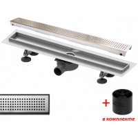 """Комплект TECElinus для монтажа дренажного канала с основой для плитки """"tile"""" с погружным стаканом с мембраной 700 мм"""