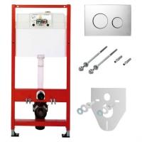 Система инсталляции для унитазов TECE Loop К400626 4 в 1 с кнопкой смыва