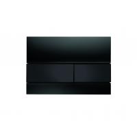 Кнопка смыва TECE Square 9240809 чёрное стекло, кнопка черная