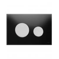 Кнопка смыва TECE Loop 9240655 черное стекло, кнопка хром матовый
