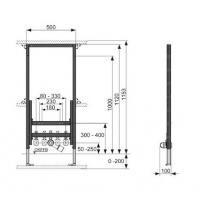 Система инсталляции для биде TECE TECEprofil 9330000
